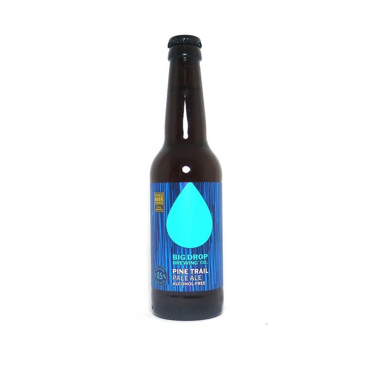 Livraison en France et vente en ligne de la bière blonde Big Drop Pine Trail sans alcool et sans gluten