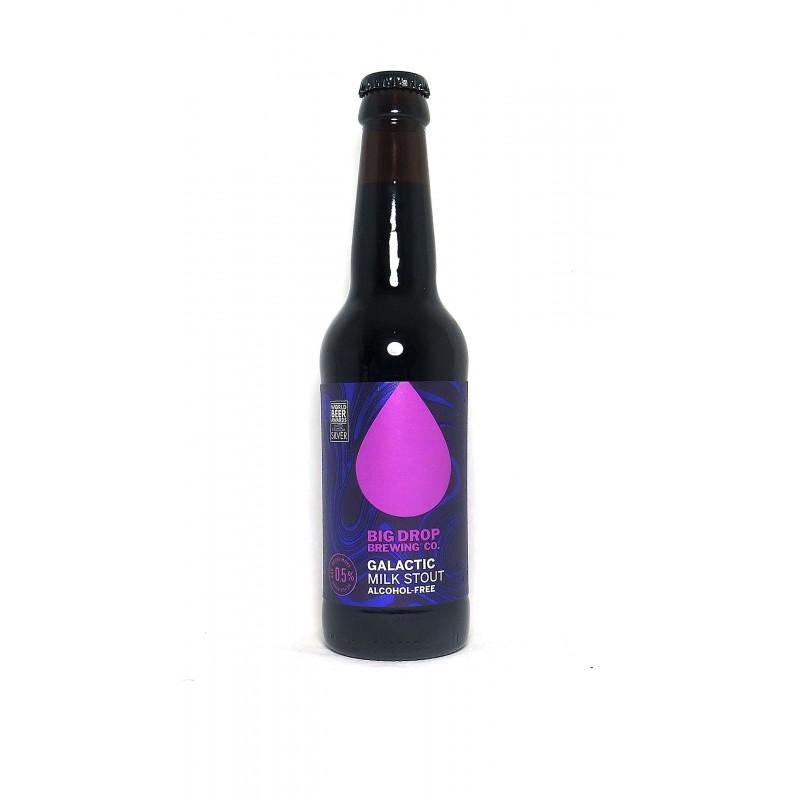 Galactic milk stout bière noire sans alcool et sans gluten brasserie anglaise Big Drop  vente en ligne livraison en France